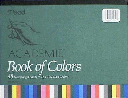 Mead Book Of Construction Paper 12 In. X 9 In. Assorted Colors - 1