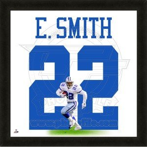 Emmitt Smith Dallas Cowboys 20x20 Framed Uniframe Jersey Photo by Biggsports