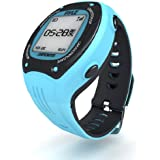 Pyle GPS Sports Watch And Workout Trainer - For Tracking Running, Biking, Hiking Outdoors - Displays Pace, Speed And Distance (Blue)