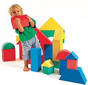 Edushape Giant Foam Blocks Construction Toy 16 Pcs