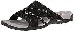 Merrell Women\'s Terran Slide Sandal, Black, 8 B(M) US