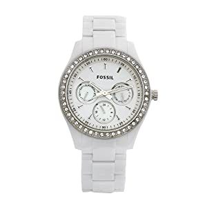 Fossil Women's ES1967 Stella Day/Date Display Quartz White Dial Watch