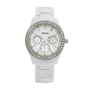 Amazon.com: Fossil Women's ES1967 Stella Day/Date Display Quartz White