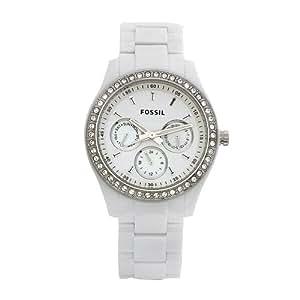 Fossil Women's ES1967 Stella Day/Date Display Quartz White Dial Watch