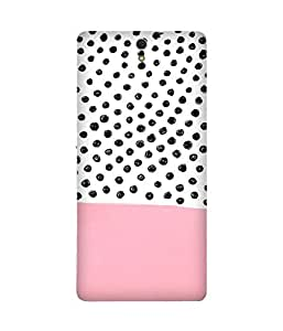 Polka and Pink Back Cover Case for Sony Xperia C5