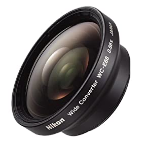Nikon WC-E68 Wide Angle Converter Lens for Coolpix 4300, 4500 & 5000 Digital Cameras