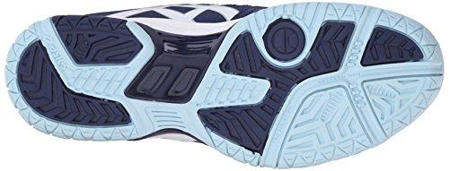 ASICS Women's GEL-Dedicate 4 Tennis Shoe, Indigo Blue/White/Crystal Blue, 8 M US