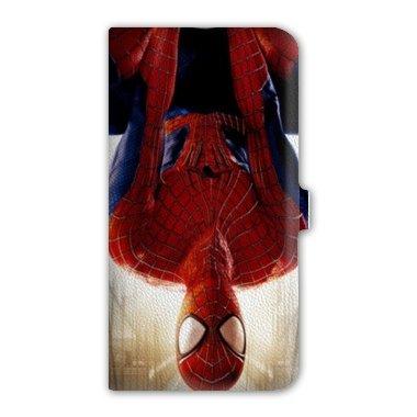 leather flip Case Carcasa Samsung Galaxy S5 Mini superheros - - spiderman invers B -
