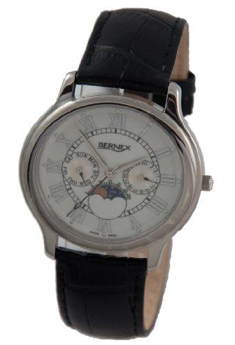 Bernex - Reloj de pulsera hombre, piel, color blanco