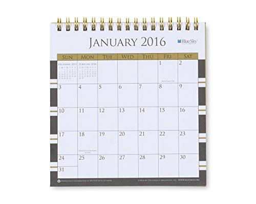 Blue Sky 2016 Athena Monthly 6 0625x6 375 Desk Calendar