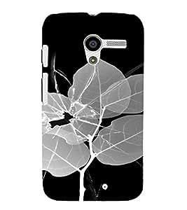 PrintVisa Broken Glass Leaf Design 3D Hard Polycarbonate Designer Back Case Cover for Motorola Moto X
