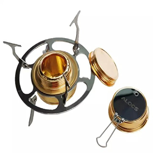 Ezyoutdoor Mini Cooking Stove Portable Mini Ultra-light Spirit Burner Alcohol Outdoor Camping Furnace Alcohol Stove for Outdoor Trip Camping Stove Furnace with Stand (Alcohol Stove 2 Burner compare prices)