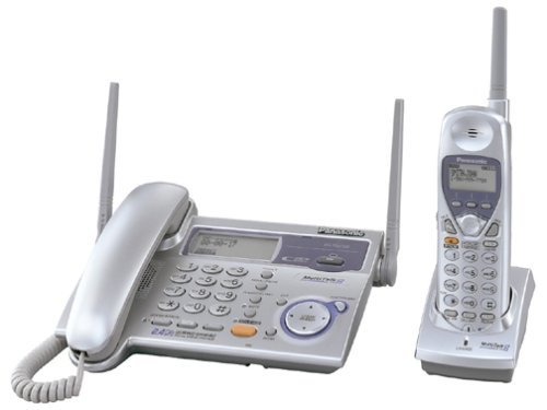 Panasonic KX-TG2750S 2.4 GHz DSS Expandable Cordless Speakerphone with Corded Base-Handset and Caller ID