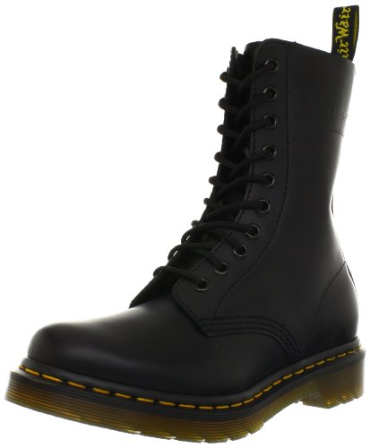 Dr. Martens Women's 1490 W 10 Eye Boot,Black Smooth,6 UK/8 M US