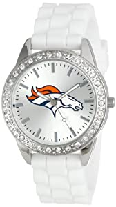 Game Time Ladies NFL-FRO-DEN Frost NFL Series Denver Broncos 3-Hand Analog Watch by Game Time
