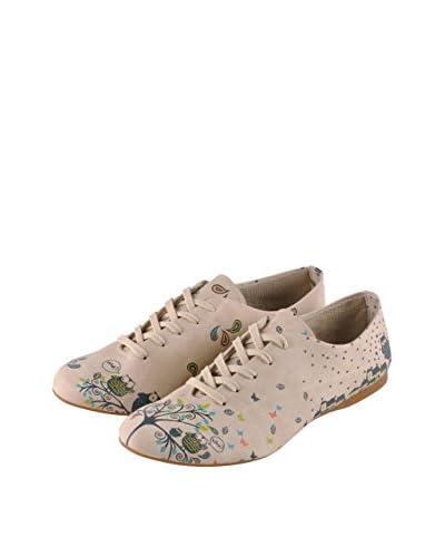 Dogo Zapatos Clásicos Owl Family Crema