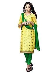 PARISHA Chanderi Cotton Yellow Women's Straight Suit ARY3009