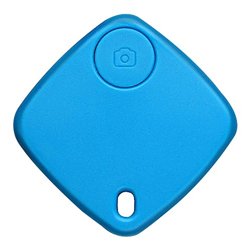 Happy Hours - Mini Wireless Bluetooth Tracker for Pet Bag Key Wallet / Square Smart Finder With Remote Selfie Function / Anti-lost GPS Locator for Apple iOS and Android(Blue) (Locator Male compare prices)