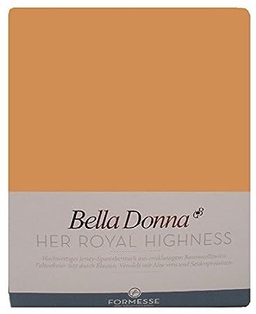 Bella Donna Jersey aglomerados de sábanas 180/200 - 200/220 cm - 0536 (latón)