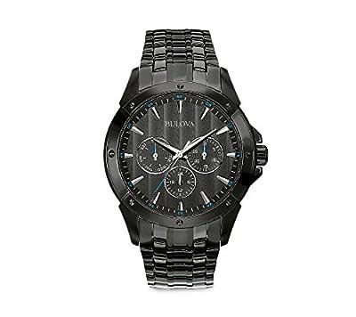 Bulova Men's Black Ion-Plated Watch