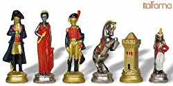 Napoleon Hand Decorated Brass Chess Set