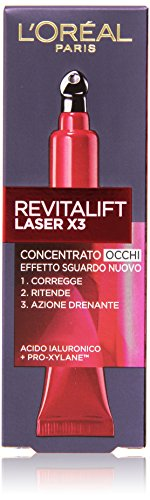 L'Oréal Paris Revitalift Laser X3 Contorno Occhi Anti-Età, 15 ml