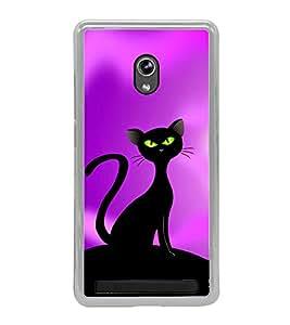 Black Cat 2D Hard Polycarbonate Designer Back Case Cover for Asus Zenfone 5 A501CG :: Asus Zenfone 5 Intel Atom Z2520 :: Asus Zenfone 5 Intel Atom Z2560
