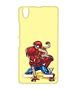 Vogueshell Spiderman With Spider Girl Printed Symmetry PRO Series Hard Back Case for Lenovo A6000