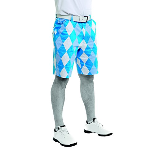 Royal & Awesome Men's Shorts, Blue and White, 32-Inch