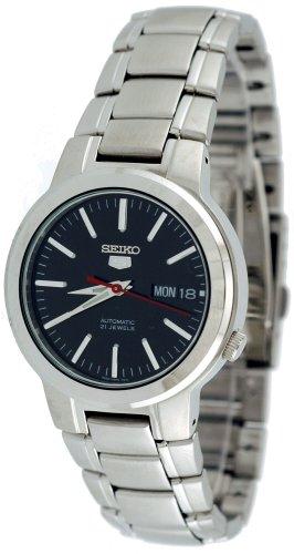 Seiko Men's SNKA07 Seiko 5 Automatic Black Dial Stainless Steel Watch