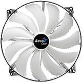 Aerocool Silent Master Gehäuselüfter (200mm, LED) weiß