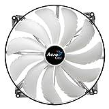 Aerocool Silent Master 20cm Quad LED Sleeve Bearing Fan - White