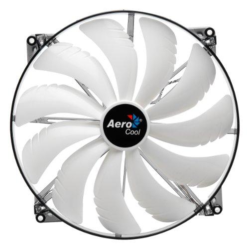 Aerocool Silent Master Ventilateur Avec LED Blanc 200 mm (Import Allemagne)