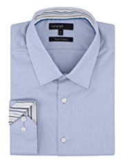 Autograph Pure Cotton Textured Shirt