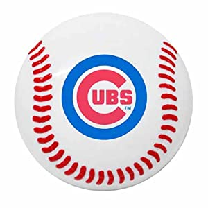 Amazon.com : MLB Chicago Cubs Baseball Magnetic Snack Clip & Memo ...