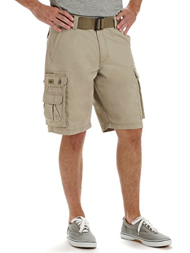 Lee Men's Big-Tall Dungarees New Belted Wyoming Cargo Short, Khaki, 46 (Big And Tall Shorts compare prices)