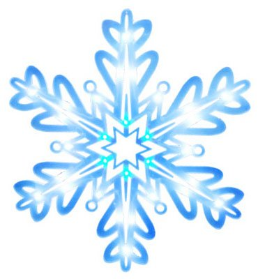 Noma/Inliten-Import V20866 Led Christmas Window Decoration, Snowflake, Battery-Operated - Quantity 6