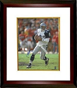 Troy Aikman Autographed Hand Signed Dallas Cowboys 16x20 Photo Custom Framed w 75th... by Hall of Fame Memorabilia
