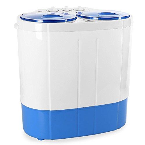 oneConcept DB003 Mini lave linge avec essorage - Mini machine à laver et essoreuse - Camping, studio et petites pièces (2kg, 250W lavage et 120W essor...