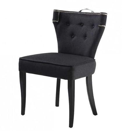 Casa Padrino silla de comedor de lujo Florida Gris oscuro / Negro - Muebles restaurante Hotel barroco