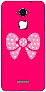 Snoogg cute bow Solid Snap On - Back Cover all Around protection For Coolpad Note 3 (White, 16GB)