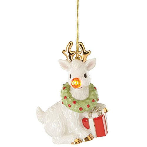 Lenox Blinking All The Way Reindeer Ornament (Lenox Crystal Ornaments compare prices)