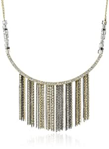 "Kenneth Cole New York ""Springtime Rose"" Multi-Chain Fringe Necklace, 19"""