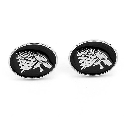 Stark Direwolf Game of Thrones Cosplay Cufflinks Gemelli