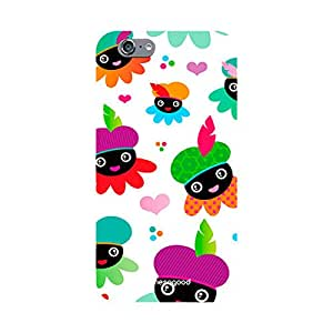 HomeSoGood Smiling Bees Pattern White 3D Mobile Case For iPhone 6 (Back Cover)