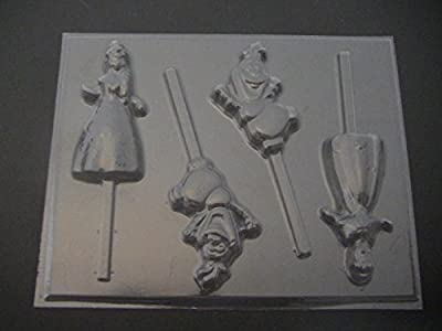 Frosted Princess Chocolate Candy Lollipop Mold