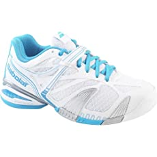Babolat 31S1374 Women's PROPULSE 4 AC W White/Blue Tennis Shoes size 8