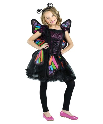Rainbow Butterfly Girls Animal Costume