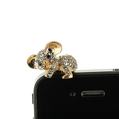 Bijoux de telephone portable KOALA STRASS [SAMSUNG APPLE IPHONE NOKIA MICROSOFTLUMIA HTC ONE SONY XPERIA] - Doré