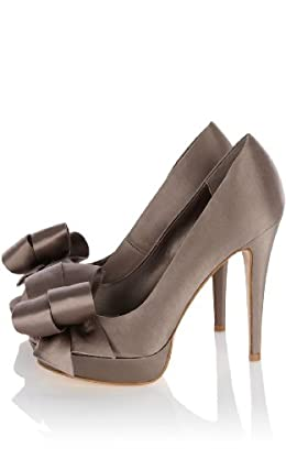 Satin Peep Toe with Bow